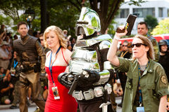 Battlestar Galatica fans at DragonCon Royalty Free Stock Photography