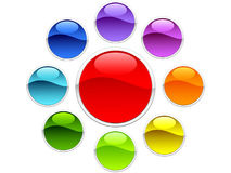 Battons coloridos Imagens de Stock