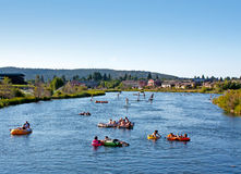 Battre la chaleur sur le fleuve Photos libres de droits