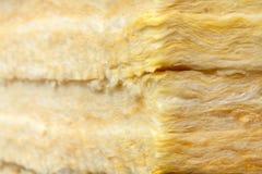Batts termisk isolering för mineralisk ull närbild arkivfoto