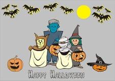 Batty Halloweenowy publiczny występ obrazy stock
