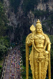 batu使吉隆坡马来西亚陷下近 库存图片