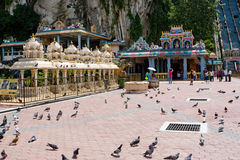 batu使吉隆坡马来西亚陷下 库存照片