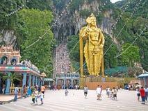 batu使马来西亚寺庙陷下 库存图片