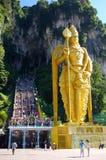 batu使马来西亚阁下murugan雕象陷下 免版税库存照片