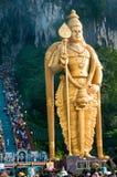 batu выдалбливает murugan статую Стоковая Фотография