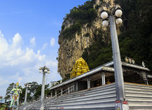 Пещера Batu, место туризма Стоковое Изображение RF