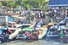 Batu-Batu Port,Tawau. Stock Photos
