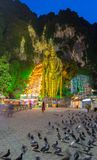 Batu Cave in the Morning. Batu Cave is a Hindu religious temple build into a limestone cavern in Kuala Lumpur Malaysia. This revered religious shrine is home to Stock Image