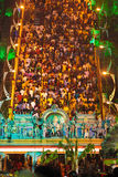 Batu cave staircase full of people Royalty Free Stock Image