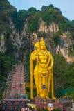 Batu Caves, gold statue Lord Murugan. Kuala Lumpur, Malaysia. Stock Photography