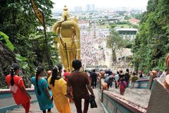 Batu caves Kuala lumper in malaysia in asia royalty free stock images