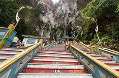 Batu Caves Kuala Lumpur,Malaysia. Kuala Lumpur,Malaysia - August 3, 2014:People can seen climbing up and down to the Batu Caves Kuala Lumpur Royalty Free Stock Image