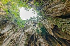 Batu Caves Kuala Lumpur,Malaysia. Sunlight coming through the hole in Batu Caves Kuala Lumpur Royalty Free Stock Photography