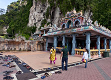 Batu caves at Kuala Lumpur - people goes to temple Stock Photos