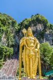 Batu Caves is a limestone hill that has a series of caves and cave temples in Gombak,Malaysia. Kuala Lumpur, Malaysia - February 13 , 2018: Batu Caves is a stock photography