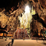 Batu Caves. Is a limestone hill that has a series of caves and cave temples in Gombak, Selangor, Malaysia. It takes its name from the Sungai Batu (Batu River) royalty free stock images