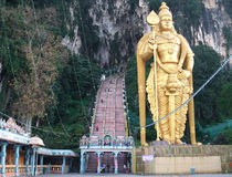 Batu caves in malaysia Royalty Free Stock Photo