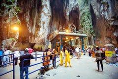 BATU CAVES, MALAYSIA - JAN 18 2014 : Thaipusam at Batu Caves tem Royalty Free Stock Photography