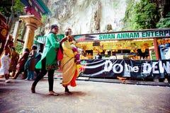 BATU CAVES, MALAYSIA - JAN 18 2014 : Thaipusam at Batu Caves tem Royalty Free Stock Photos