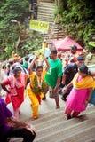 BATU CAVES, MALAYSIA - JAN 18 2014 : Thaipusam at Batu Caves tem Stock Photography