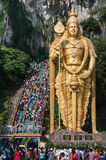 BATU CAVES, MALAYSIA - JANUARY 20, 2011: Processio. Procession during the Hindu festival of Thaipusam on January 20, 2011 in Batu Caves, Malaysia Stock Photography