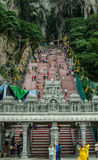 Batu Caves Stairs. The stairway which consist of 272 steps that leads up to a temple inside the cave Royalty Free Stock Image