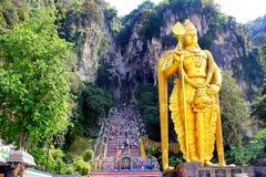 Batu Caves Statue And Entrance Near Kuala Lumpur, Malaysia Stock Photos