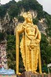 Batu excava con la estatua de Murugan en Malasia fotos de archivo libres de regalías