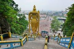 Batu excava las escaleras Gombak, Selangor malasia Imágenes de archivo libres de regalías