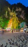 Batu grotta i morgonen Fotografering för Bildbyråer