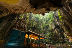 Batu grotta, Malaysia Arkivfoto