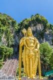 Batu-Höhlen ist ein Kalksteinhügel, der eine Reihe Höhlen und Höhlentempel in Gombak, Malaysia hat Stockfotografie