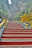 Batu holt Hindoese tempeltreden uit Gombak, Selangor maleisië royalty-vrije stock afbeelding