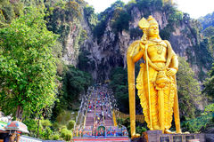 Batu scava la statua e l'entrata vicino a Kuala Lumpur, Malesia Fotografie Stock