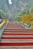 Batu scava le scale del tempio indù Gombak, Selangor malaysia immagine stock libera da diritti