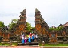 Batuan Indonezja, Grudzień, - 28, 2008: Puseh świątynia, Bali Obrazy Stock