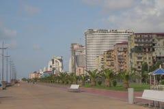 Batumi é a cidade a maior do ` s de Geórgia em segundo - Batumi é ficado situado ao longo do Mar Negro fotografia de stock