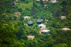BATUMI, ΓΕΩΡΓΊΑ - 20 ΙΟΥΛΊΟΥ: άποψη από cableway καμπινών στοκ εικόνες με δικαίωμα ελεύθερης χρήσης