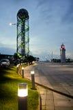 BATUMI, ΓΕΩΡΓΊΑ ΣΤΙΣ 25 ΜΑΐΟΥ 2015: Ο αλφαβητικός πύργος σε Batumi Στοκ Εικόνες