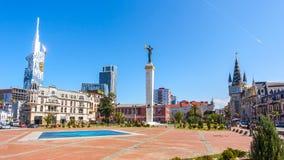 31 03 2018 Batumi, Γεωργία - το ευρωπαϊκό τετράγωνο, στο κέντρο Στοκ Φωτογραφία