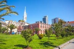 31 03 2018 Batumi, Γεωργία - το ευρωπαϊκό τετράγωνο, στο κέντρο Στοκ Εικόνα