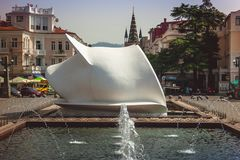Batumi ΓΕΩΡΓΙΑ - 21 Σεπτεμβρίου 2017: Αστική εγγραφή σε Batu στοκ εικόνες