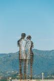 Batumi, Adjara, Geórgia Escultura movente do metal criada pelo escultor Georgian Tamara Kvesitadze Imagens de Stock Royalty Free