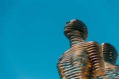 Batumi, Adjara, Geórgia Escultura movente do metal criada por Geórgia Fotos de Stock