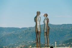 Batumi, Adjara, Geórgia Escultura movente do metal criada por Georg Foto de Stock