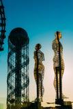 Batumi, Adjara, Geórgia Escultura movente do metal criada por Georg Imagens de Stock
