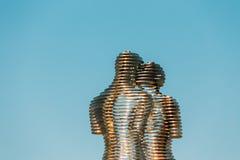 Batumi, Adjara, Geórgia Escultura movente do metal criada por Georg Fotos de Stock