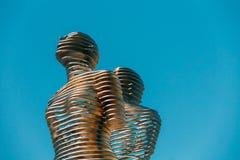 Batumi, Adjara, Geórgia Escultura movente do metal criada por Georgian Fotografia de Stock