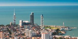 Batumi, Adjara, Georgië Hoogste Mening van Stedelijke Cityscape in Sunny Summer royalty-vrije stock foto